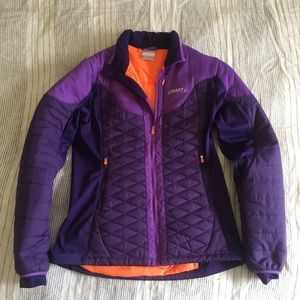 Craft quilted jacket for runners or skiers